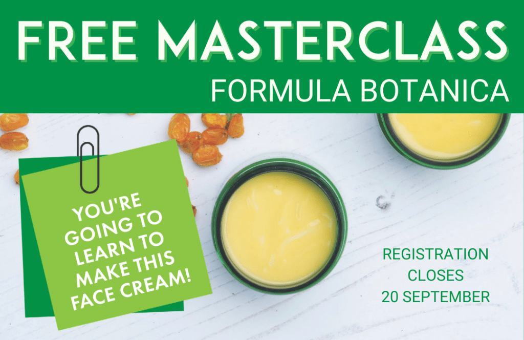 Join our free Masterclass from Formula Botanica